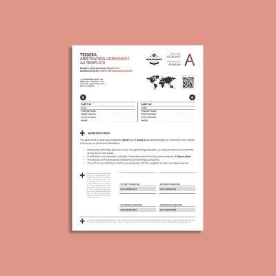 Tessera Arbitration Agreement A4 Template