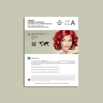 Tessera Booking Agreement Contract US Letter Template