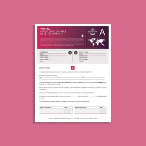 Tessera Car Selling Contract US Letter Template