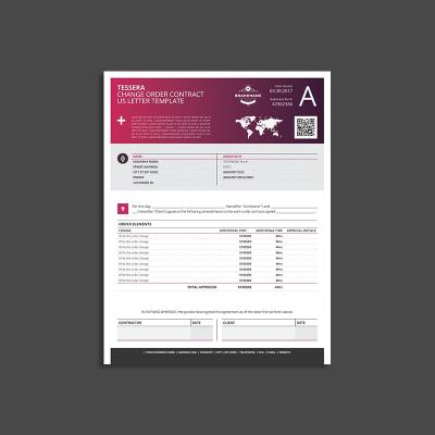 Tessera Change Order Contract US Letter Template