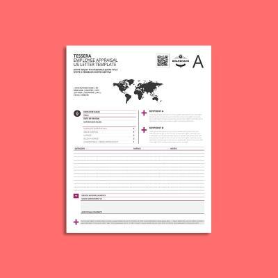 Tessera Employee Appraisal US Letter Template
