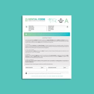 Tessera Rental Contract Form US Letter Template