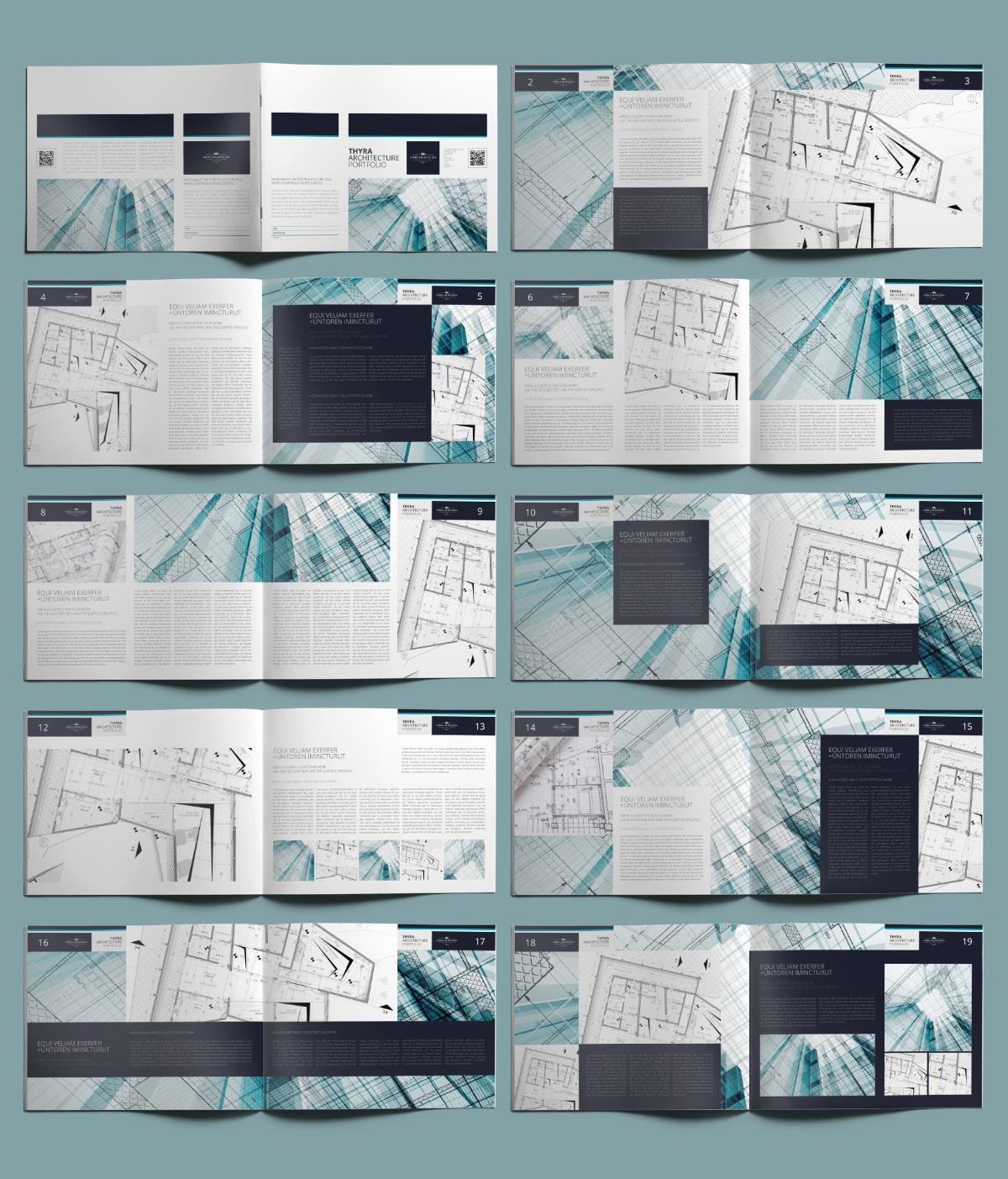 Thyra Architecture Portfolio US Letter Landscape - Layouts