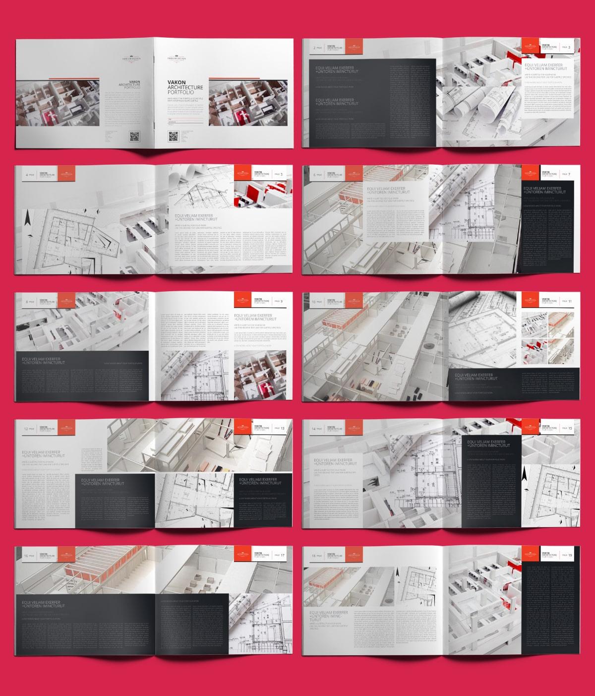 Vakon Architecture Portfolio US Letter Landscape - Layouts