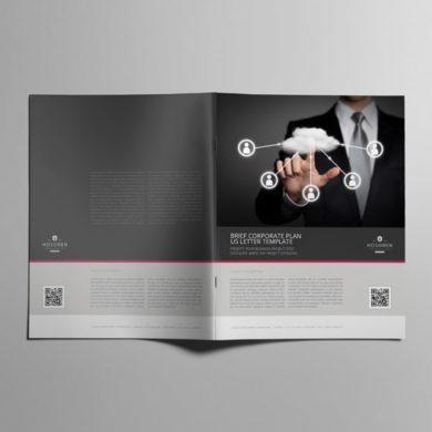 Brief Corporate Plan US Letter Template – kfea 4-min