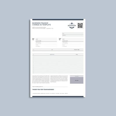 Business Finance Charge A4 Template