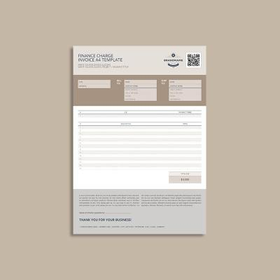 Finance Charge A4 Template