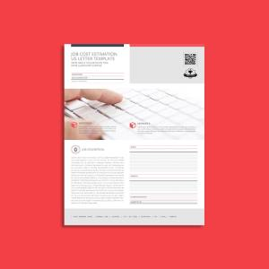 Job Cost Estimation US Letter Template