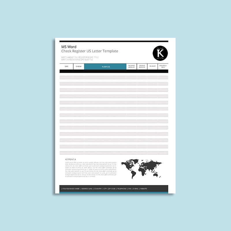 Business check fill in template