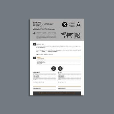 MS Word Consulting Agreement A4 Template