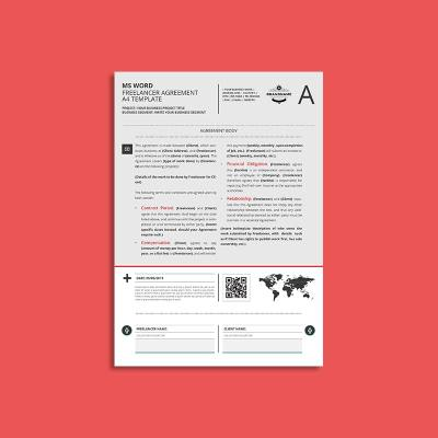 MS Word Freelancer Agreement A4 Template