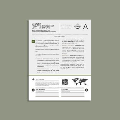 MS Word Freelancer Agreement US Letter Template