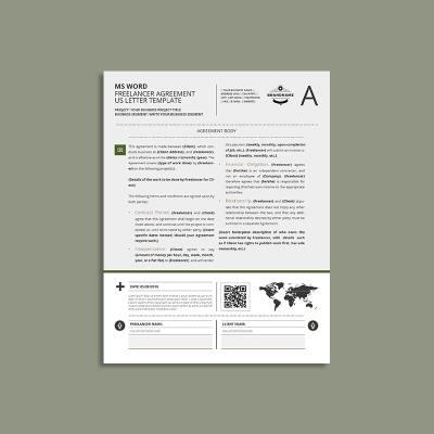 MS Word Freelancer Agreement US Letter Template