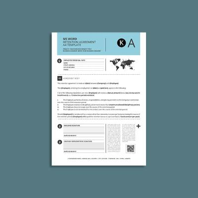 MS Word Retention Agreement A4 Template