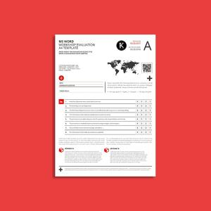 MS Word Workshop Evaluation A4 Template