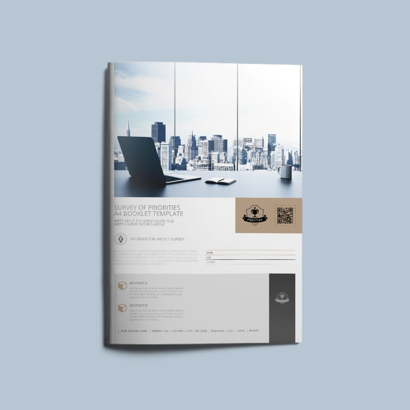Survey of Priorities A4 Booklet Template