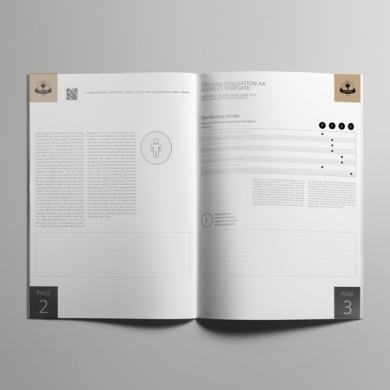 Training Evaluation A4 Booklet Template – kfea 2-min