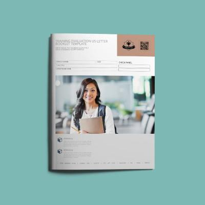 Training Evaluation US Letter Booklet Template