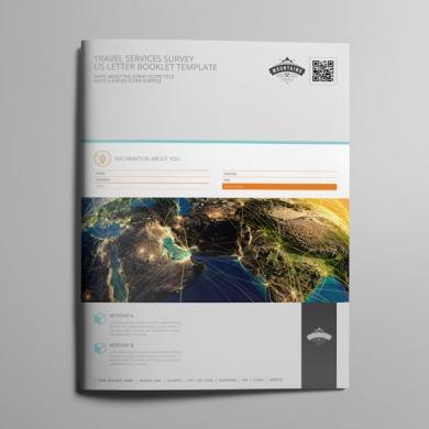 Travel Services Survey US Letter Booklet Template – kfea 1-min