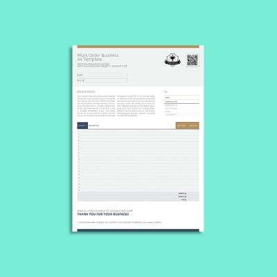 Work Order Business A4 Template