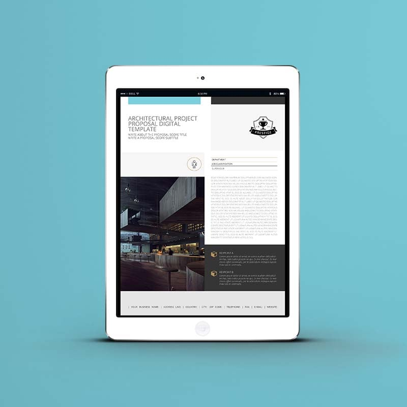 Architectural Project Proposal Digital Template