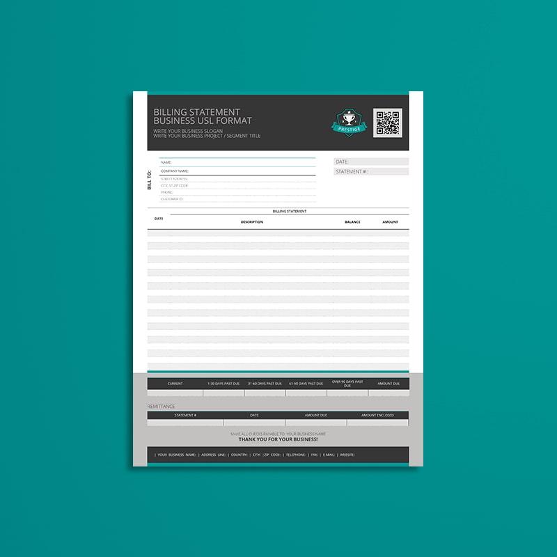 Billing Statement Business USL Format