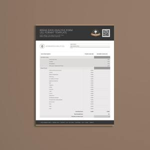 Break Even Analysis Form USL Format Template