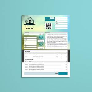 Business Invoice US Letter Template