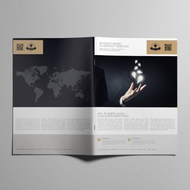 Business Model A4 Booklet Template – kfea 3-min