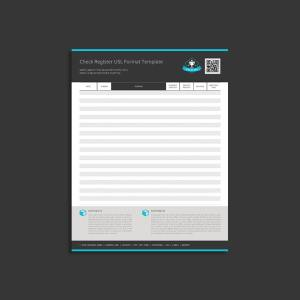 Check Register USL Format Template