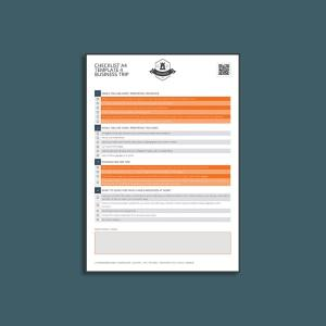 Checklist A4 Template 4 Business Trip
