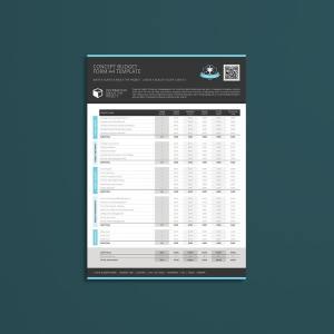 Concept Budget Form A4 Template