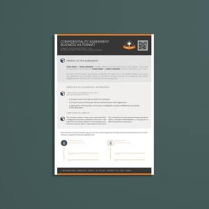Confidentiality Agreement Business A4 Format