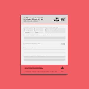 Customer Questionnaire Form USL Format Template