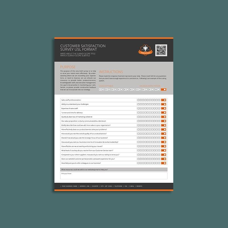 Customer Satisfaction Survey USL Format