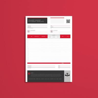 Delivery Docket A4 Format Template
