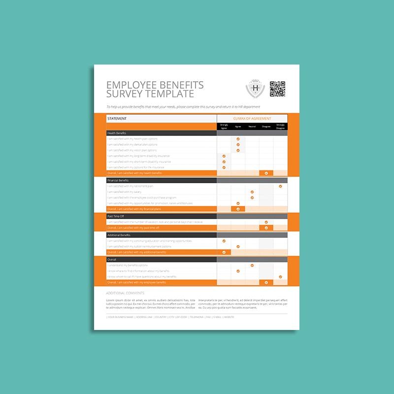 Employee Benefits Survey Form US Letter Template