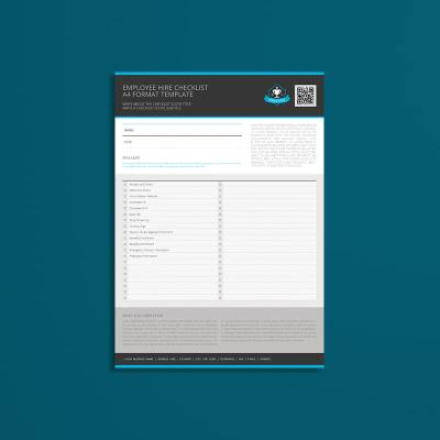 Employee Hire Checklist A4 Format Template