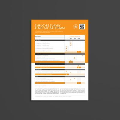 Employee Survey Template A4 Format