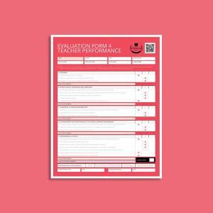 Evaluation Form 4 Teacher Performance US Letter