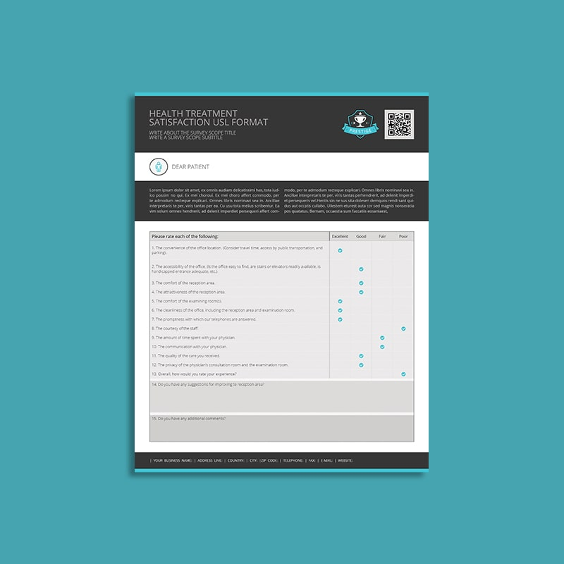 Health Treatment Satisfaction USL Format