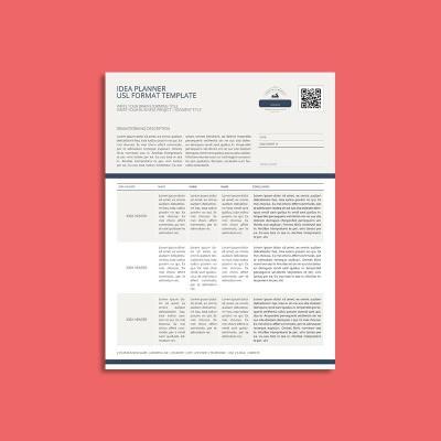 Idea Planner USL Format Template
