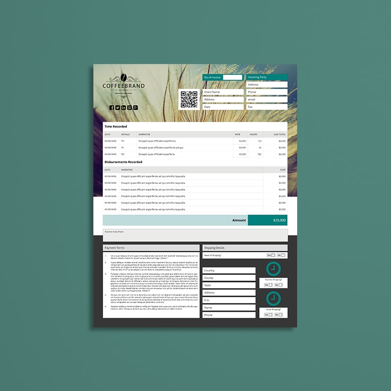 Invoice Template US Letter 4 Biz
