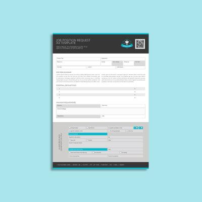 Job Position Request A4 Template