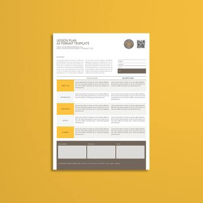 Lesson Plan A4 Format Template