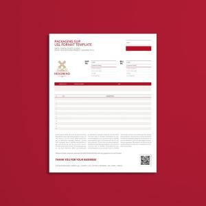 Packaging Slip USL Format Template