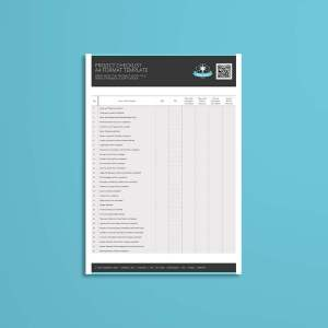 Project Checklist A4 Format Template