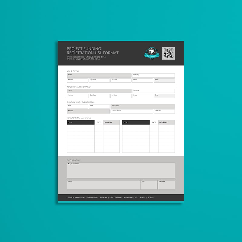 Project Funding Registration USL Format