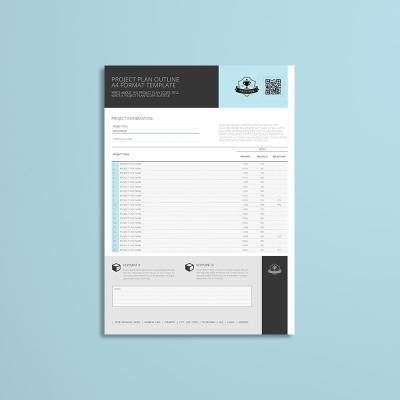 Project Plan Outline A4 Format Template