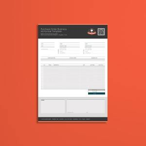 Purchase Order Business A4 Format Template